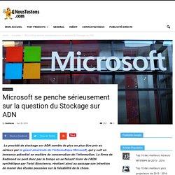 Microsoft se penche sérieusement sur la question du Stockage sur ADN - Nous Testons