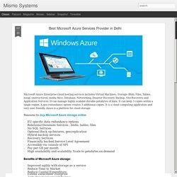 Best Microsoft Azure Services Provider in Delhi