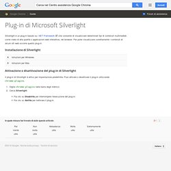 Microsoft Silverlight Plug-in, Guida Google Chrome