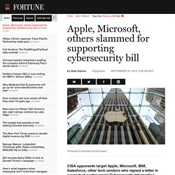 Apple, Microsoft, IBM slammed for CISA support