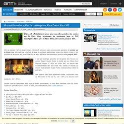 Microsoft lance les soldes de printemps sur Xbox One et Xbox 360