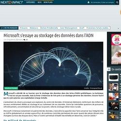 Microsoft s'essaye au stockage des données dans l'ADN