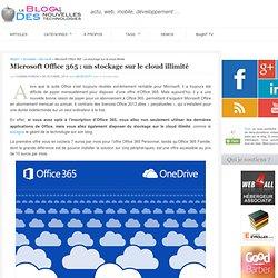 Microsoft Office 365 : un stockage sur le cloud illimité