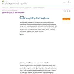 Free Tools For Teachers : Digital Storytelling Teaching Guide