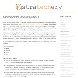 Microsoft's Mobile Muddle