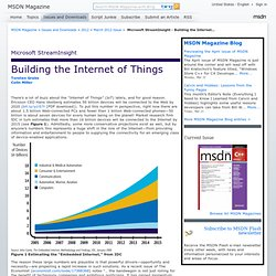 Microsoft StreamInsight - Building the Internet of Things