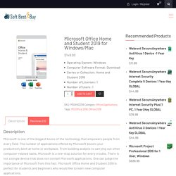 Buy Microsoft Office Home and Student 2019 - SoftBest2Buy