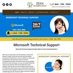 Microsoft Support 1-844-738-3994 for Microsoft Tech Support