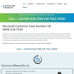 Microsoft Help Desk Number UK 0808-238-7544 Microsoft Helpline Number UK