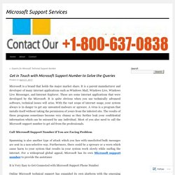 Get in Touch with Microsoft Support Number to Solve the Queries