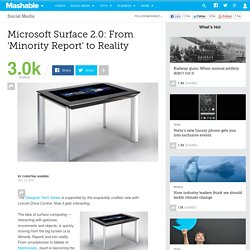 Microsoft Surface 2.0: From 'Minority Report' to Reality