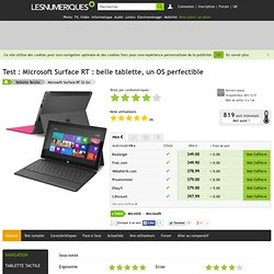 Microsoft Surface RT : Test complet