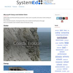 Microsoft Sway and Adobe Slate