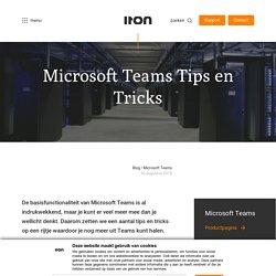 Microsoft Teams Tips en Tricks - ITON