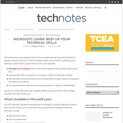 Microsoft Learn: Beef Up Your Technical Skills