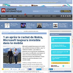 1 an après le rachat de Nokia, Microsoft toujours invisible dans le mobile