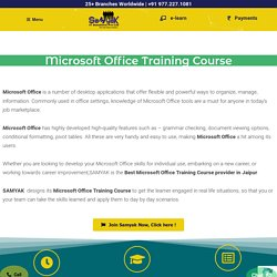 MS Office course in Jaipur