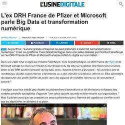 L'ex DRH France de Pfizer et Microsoft parle Big Data et transformation numérique