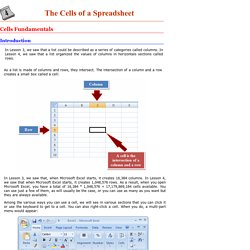 Microsoft Excel Tutorial - Lesson 4: The Cells of a Spreadsheet