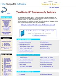 Microsoft Visual Basic .NET tutorials for Beginners