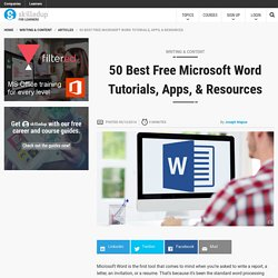 50 Best Free Microsoft Word Tutorials, Books & Resources