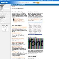 Typography - Features of TrueType and OpenType