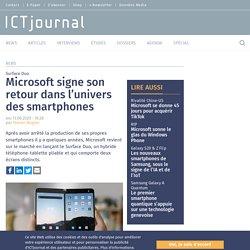 Microsoft signe son retour dans l'univers des smartphones