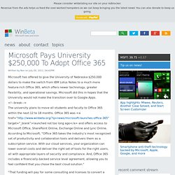 Microsoft Pays University $250,000 To Adopt Office 365 | WinBeta - Aurora
