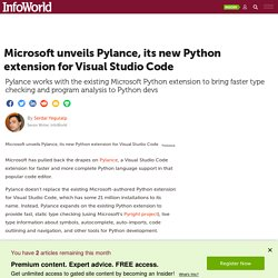 Microsoft unveils Pylance, its new Python extension for Visual Studio Code