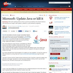 Microsoft: Update Java or kill it