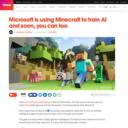 Microsoft is using Minecraft to train AI and soon, you can too