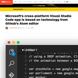 Microsoft's Visual Studio Code Is Based On GitHub Atom