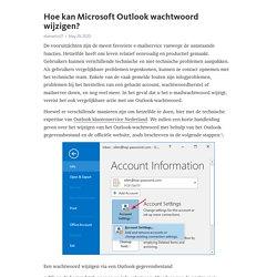 Hoe kan Microsoft Outlook wachtwoord wijzigen?