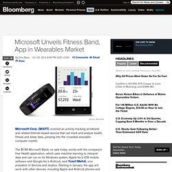 Microsoft Unveils Fitness Band, App in Wearables Market