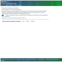 Microsoft Windows-Fehlerberichterstattung