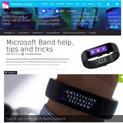 Microsoft Band help, tips and tricks