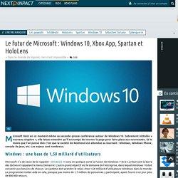 Le futur de Microsoft : Windows 10, Xbox App, Spartan et HoloLens