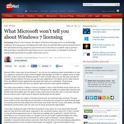 What Microsoft won't tell you about Windows 7 licensing