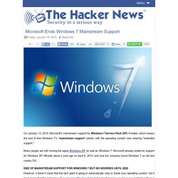 Microsoft Ends Windows 7 Mainstream Support - Hacker News