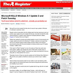 Microsoft KILLS Windows 8.1 Update 2 and Patch Tuesday