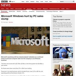 Microsoft Windows hurt by PC sales slump