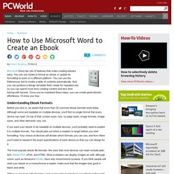 ▶ How to Use Microsoft Word to Create an Ebook