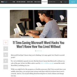 Microsoft Word Hacks That'll Save You Time