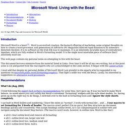 Microsoft Word: Living with the Beast