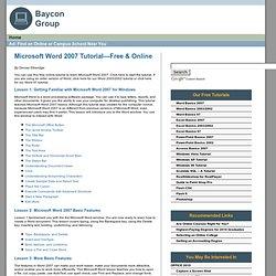 Microsoft Word 2007 Tutorial—Free & Online