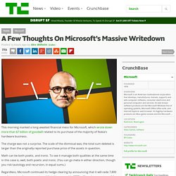 A Few Thoughts On Microsoft's Massive Writedown