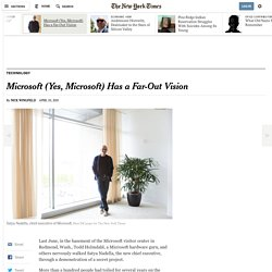 Microsoft (Yes, Microsoft) Has a Far-Out Vision