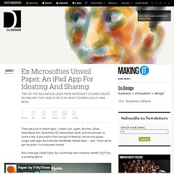 Ex-Microsofties Unveil Paper, An iPad App For Ideating And Sharing