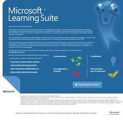 Microsoft® Learning Suite combina aplicaciones familiares y software