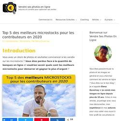 Top 5 des meilleurs microstocks pour les contributeurs en 2020 - Vendre ses photos en ligne